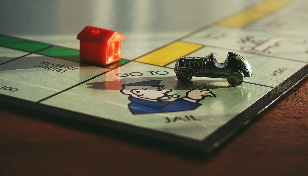 More Money represented by monopoly board